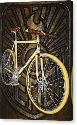 Demon Path Racer Bicycle Canvas Print by Mark Howard Jones