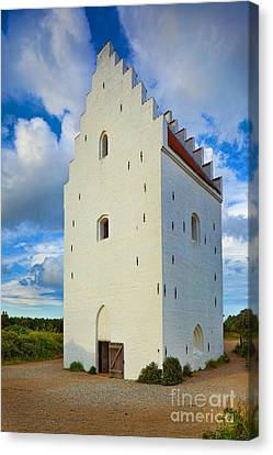 Den Tilsandede Kirke Steeple Canvas Print by Inge Johnsson