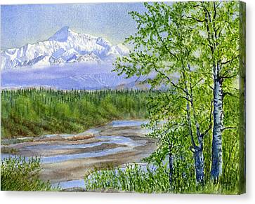 Denali Viewpoint Canvas Print by Sharon Freeman