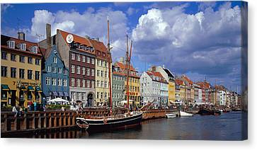 Denmark, Copenhagen, Nyhavn Canvas Print by Panoramic Images