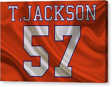 Denver Broncos Tom Jackson Canvas Print by Joe Hamilton