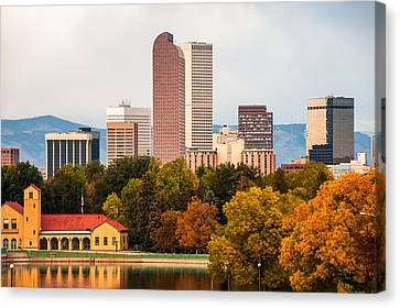Denver In The Fall Canvas Print by Gregory Ballos
