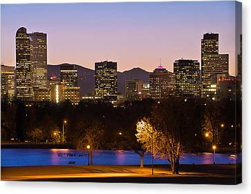 Denver Skyline - City Park View Canvas Print by Gregory Ballos