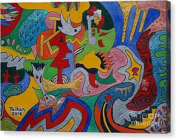 Depth Psychology By Taikan Canvas Print by Taikan Nishimoto