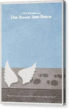 Der Himmel Uber Berlin  Wings Of Desire Canvas Print by Ayse Deniz