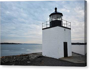 Derby Wharf Light Salem Ma Canvas Print by Toby McGuire