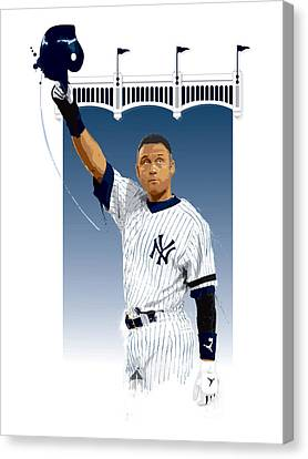 Derek Jeter 3000 Hits Canvas Print by Scott Weigner