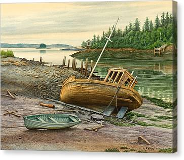 Derelict Boat Canvas Print by Paul Krapf