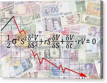 Derivatives Financial Debacle - Black Scholes Equation Canvas Print by Daniel Hagerman
