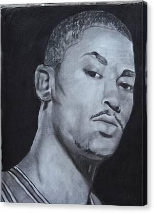 Derrick Rose Canvas Print by Aaron Balderas