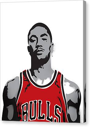 Derrick Rose Canvas Print by Mike Maher