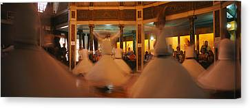 Dervishes Dancing At A Ceremony Canvas Print by Panoramic Images