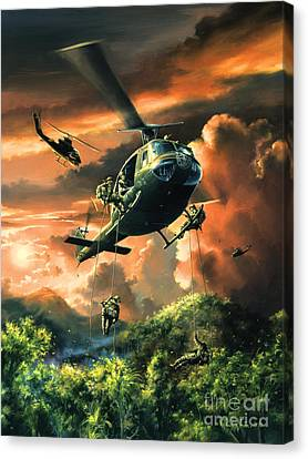 Descent Into The A Shau Valley Canvas Print by Randy Green