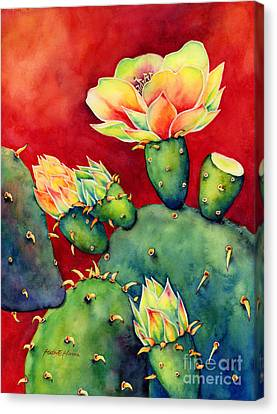 Desert Bloom Canvas Print by Hailey E Herrera