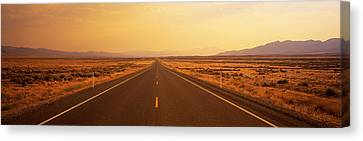 Desert Highway, Nevada, Usa Canvas Print by Panoramic Images