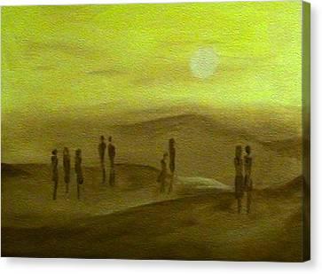 Desert Jaune Canvas Print by Mirko Gallery