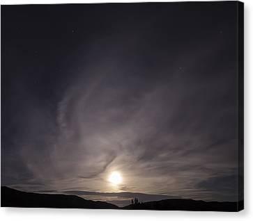 Desert Moon Rising Canvas Print by Stellina Giannitsi
