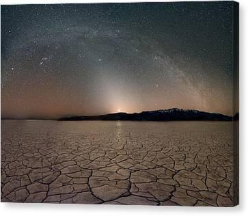 Desert Night Canvas Print by Leland D Howard