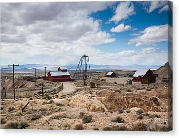 Desert Queen Hoist House And Mine Canvas Print by Panoramic Images