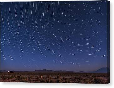 Desert Star Trails Canvas Print by Cat Connor