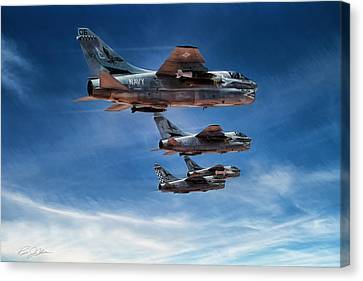 Desert Storm Blue Hawks Canvas Print by Peter Chilelli