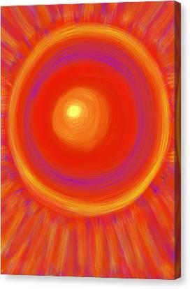 Desert Sunburst Canvas Print by Daina White