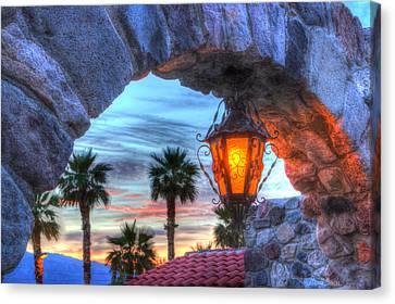 Desert Sunset View Canvas Print by Heidi Smith