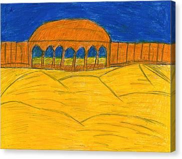 Desert Temple Canvas Print by Frances Garry