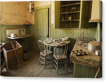 Deserted Bodi Kitchen  Canvas Print by Bryant Coffey