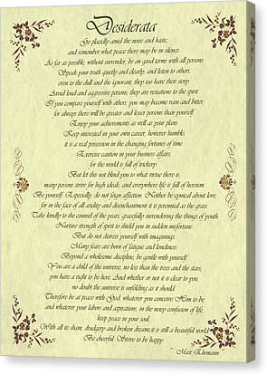 Desiderata Gold Bond Scrolled Canvas Print by Movie Poster Prints
