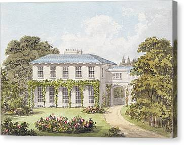 Design For The South Front Of A House Canvas Print by Humphry Repton