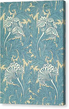 Design In Turquoise Canvas Print by William Morris