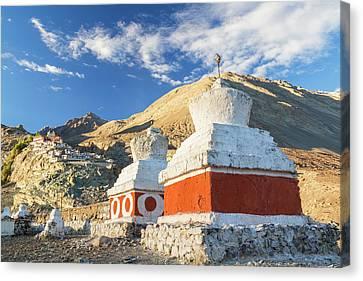 Deskit Monastery, Ladakh, India Canvas Print by Peter Adams