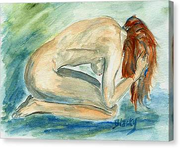 Despair Canvas Print by Donna Blackhall