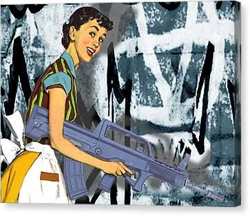 Desperate Housewife Canvas Print by Tony Rubino