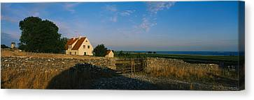 Detached House Near The Ocean, Faro Canvas Print by Panoramic Images