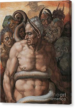 Detail Of The Last Judgment Canvas Print by Michelangelo