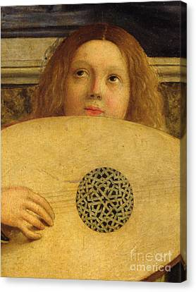 Detail Of The San Giobbe Altarpiece Canvas Print by Giovanni Bellini