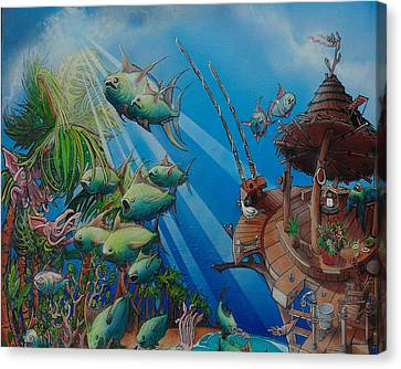 Detail Top Of The Great Tuna Mindgration Canvas Print by Stacey Heney