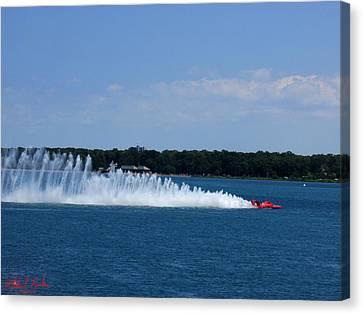 Detroit Hydroplane Races Canvas Print by Michael Rucker