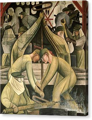 Detroit Industry  South Wall Canvas Print by Diego Rivera