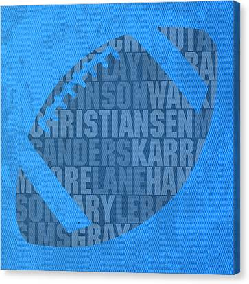 Detroit Lions Football Team Typography Famous Player Names On Canvas Canvas Print by Design Turnpike
