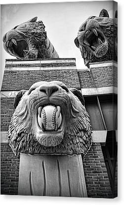 Detroit Tigers Comerica Park Tiger Statues Canvas Print by Gordon Dean II