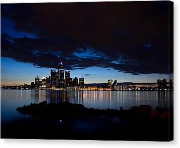 Detroit Twilight Canvas Print by Cale Best
