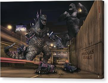 Detroits Zoo Canvas Print by Nicholas  Grunas
