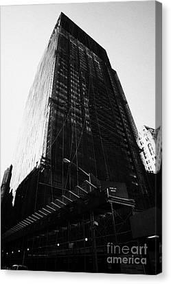 Deutsche Bank Building Due For Demolition Liberty Street Ground Zero Canvas Print by Joe Fox