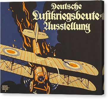 Deutsche Luftkriegsbeute Ausstellung Canvas Print by Siegmund von Suchodolski