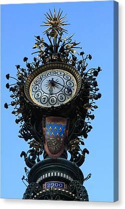 Dewailly Clock - Amiens - France Canvas Print by Aidan Moran