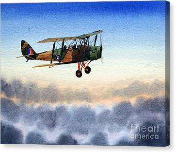 Dh-82 Tiger Moth Canvas Print by Bill Holkham