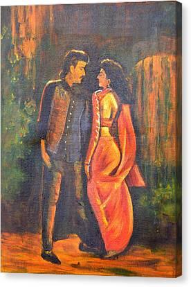 Dhak Dhak Canvas Print by Usha Shantharam